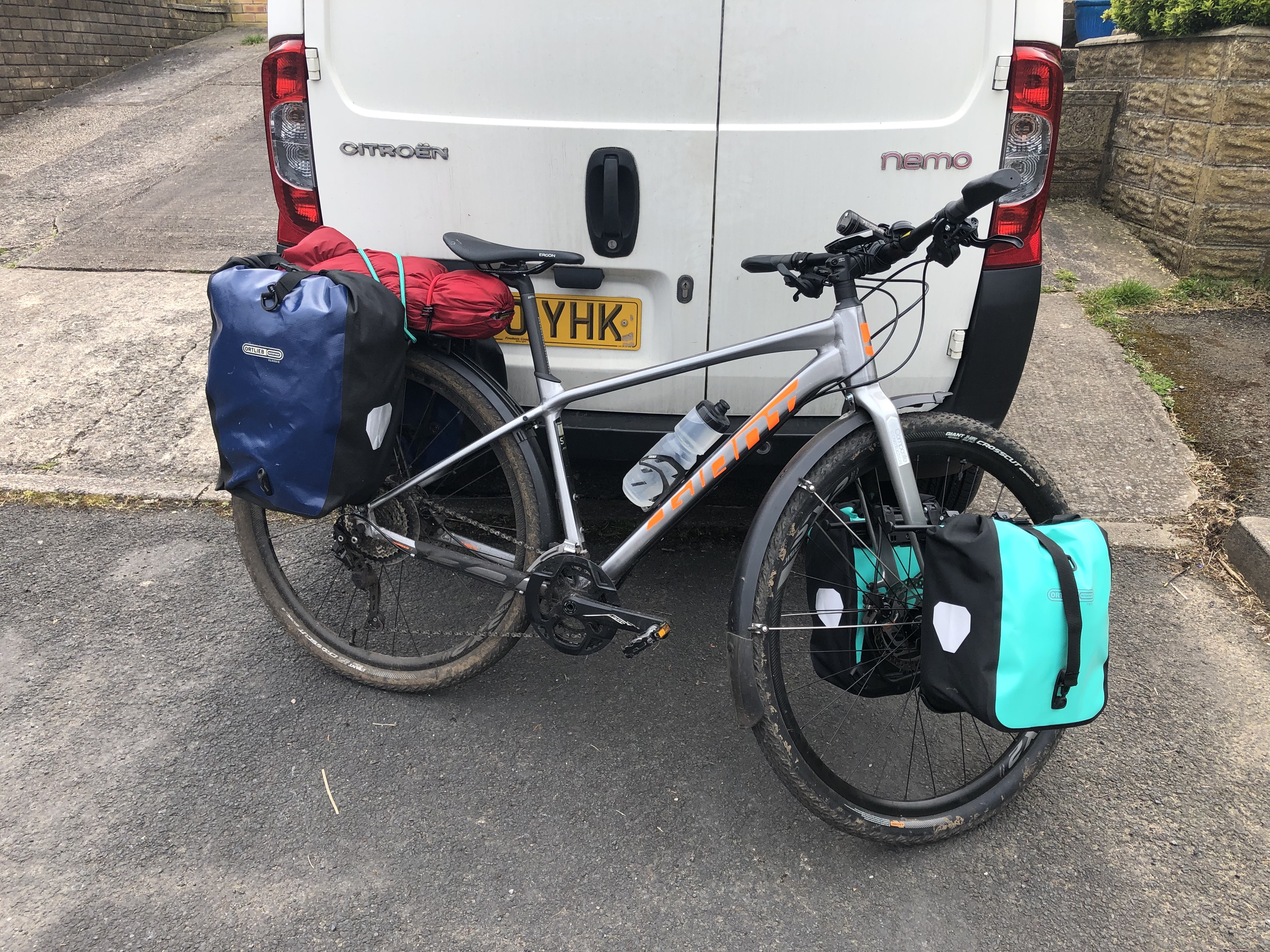 Giant ToughRoad SLR bike packing cycle touring