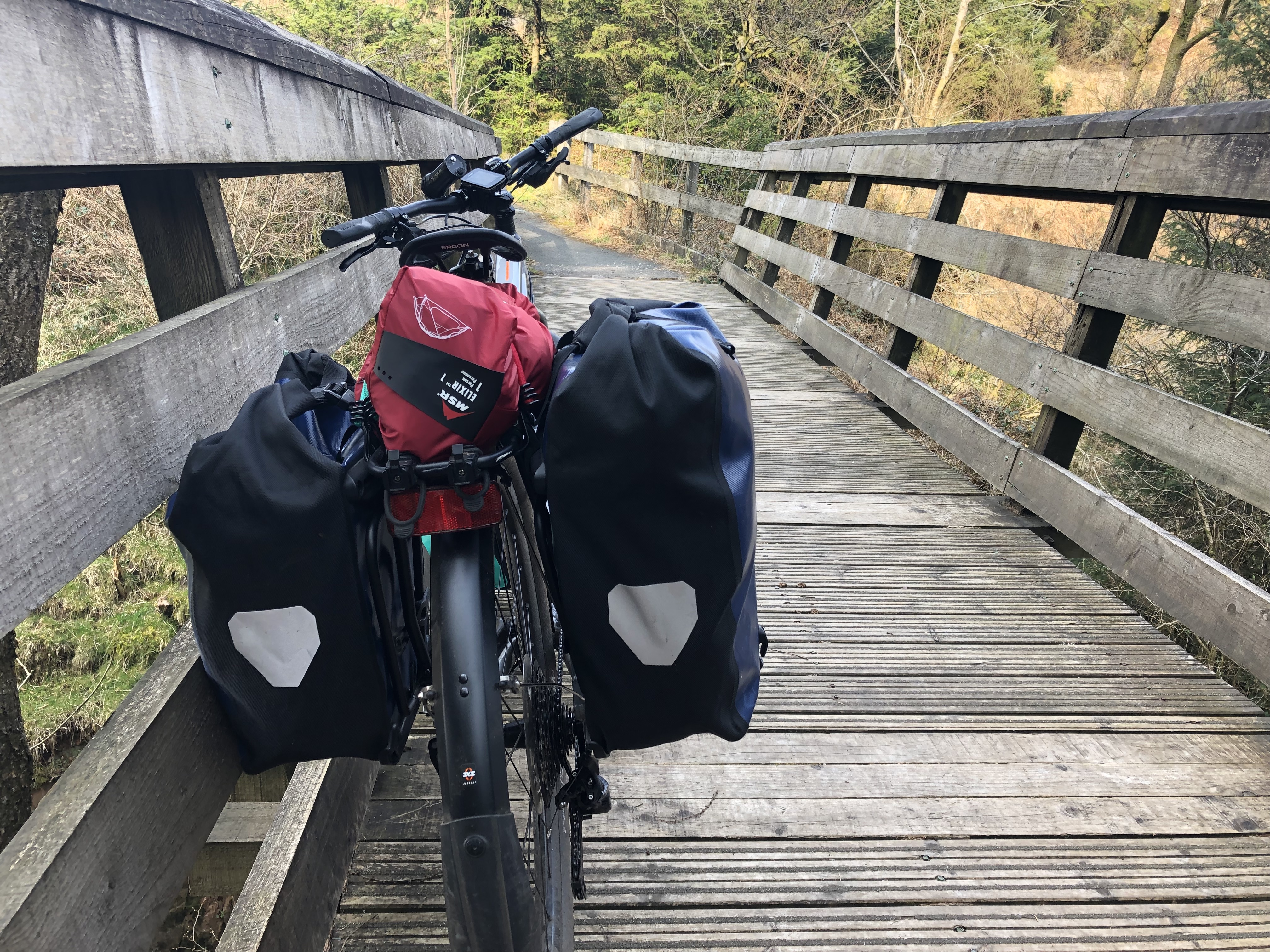 cycle touring kit list ortlieb pannier bags giant tough road